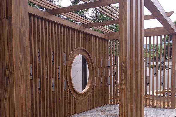 廊架仿木纹漆|木纹漆施工细节知多少?