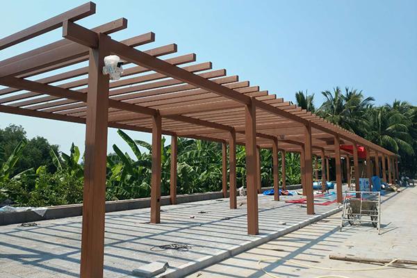 海南三亚天涯海角风景区钢构仿木
