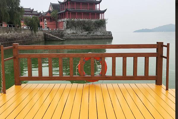 巢湖中庙姥山岛景区游船码头钢构护栏项目