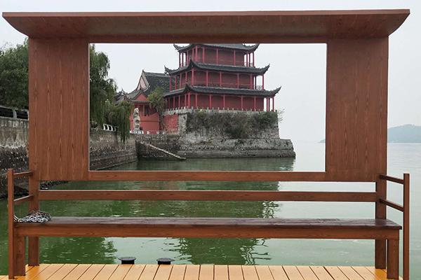 巢湖中庙姥山岛景区游船码头木纹漆项目