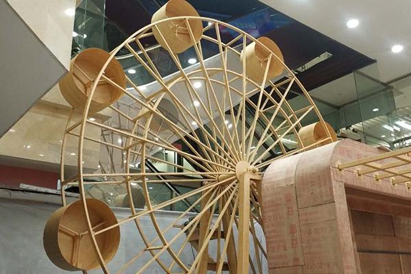 天津南开区东马路新世界百货钢构摩天轮项目