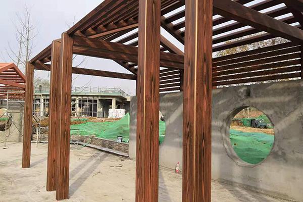 南京市江宁区高桥钢构廊架项目