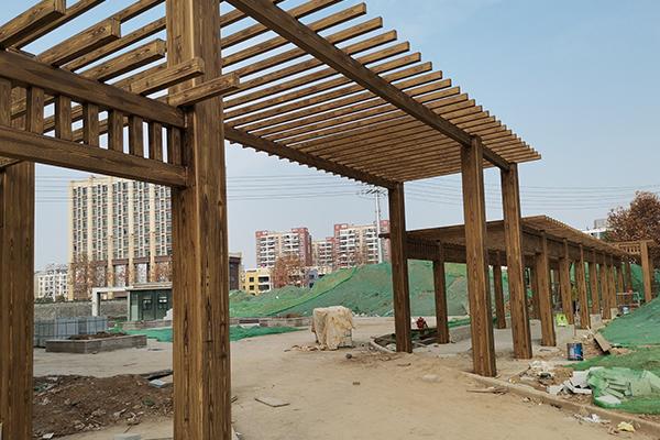 南京市浦口区江北新区钢钢构廊架